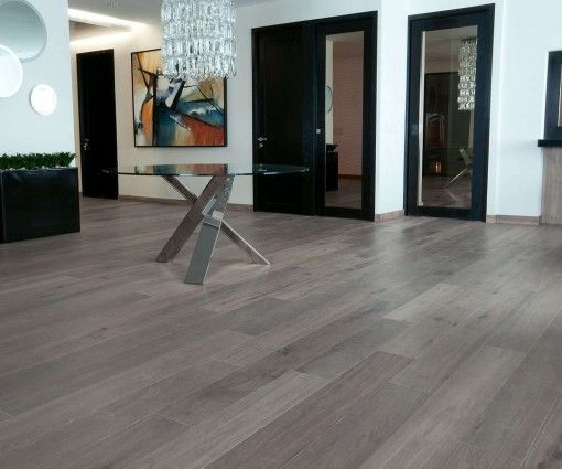Pavimenti In Rovere Grigio : Parquet rovere grigio spazzolato prefinito anticato maxiplancia