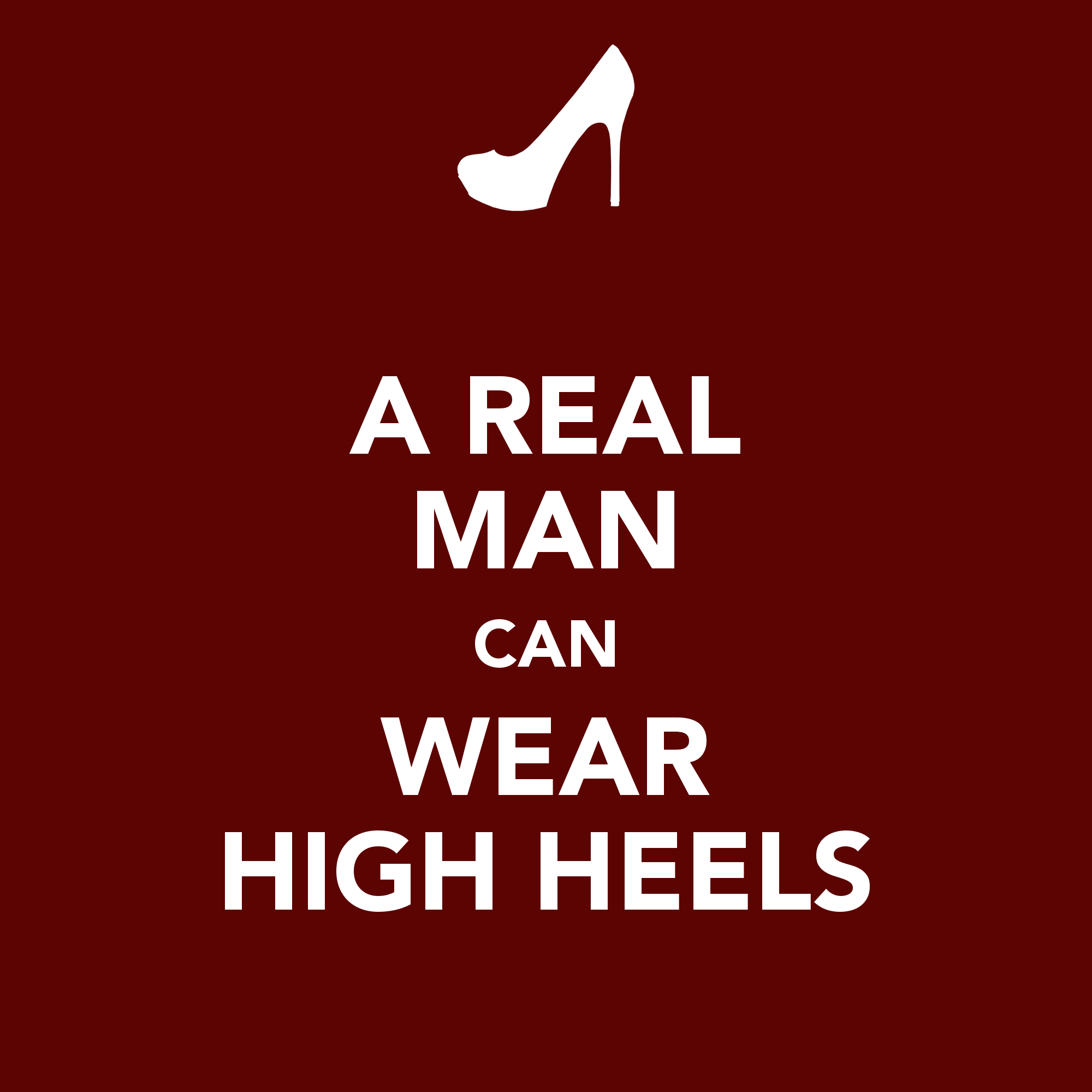Can men wear high heels?