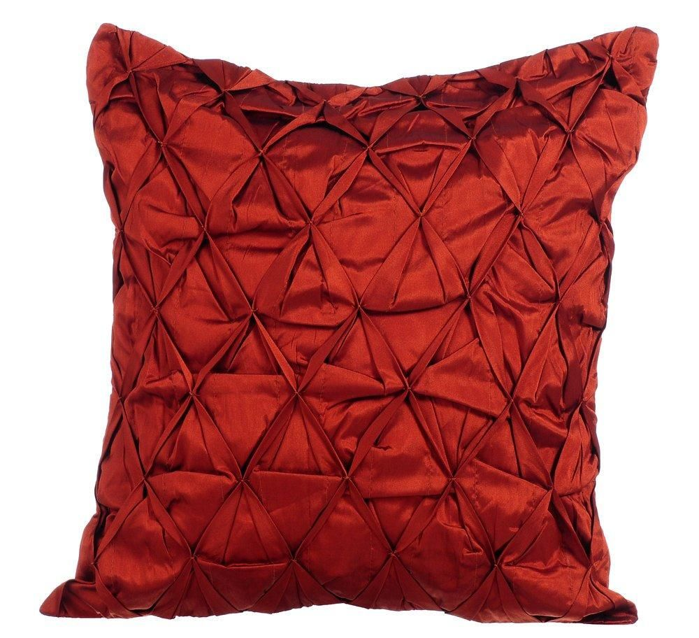 Rust Passion Rust Taffeta Throw Pillow Cover With Images