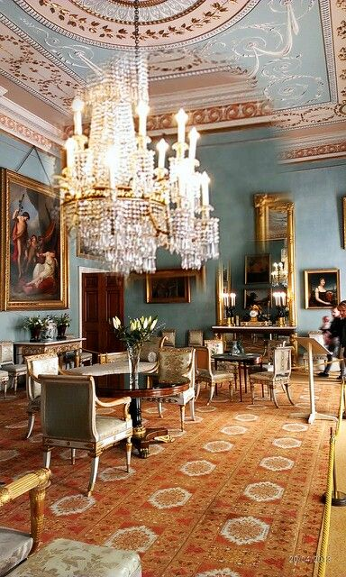 Georgian Drawing Room: Drawing Room At Attingham Park, Shropshire, England. The