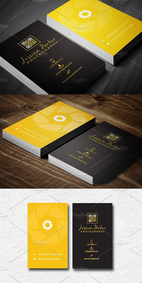 Photography Business Card Templates PSD | Business Card Templates ...