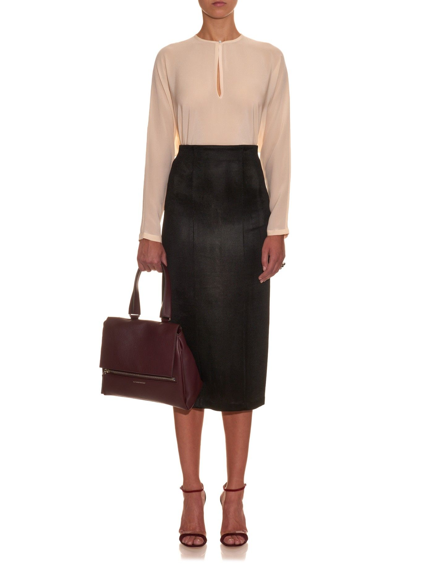 Pearl-button silk blouse  | Givenchy | MATCHESFASHION.COM US