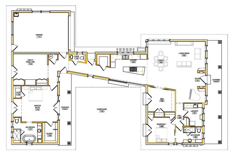 Sonoma Passive House Retrofit Floor Plan Passive House Design Modern House Plans House Plans