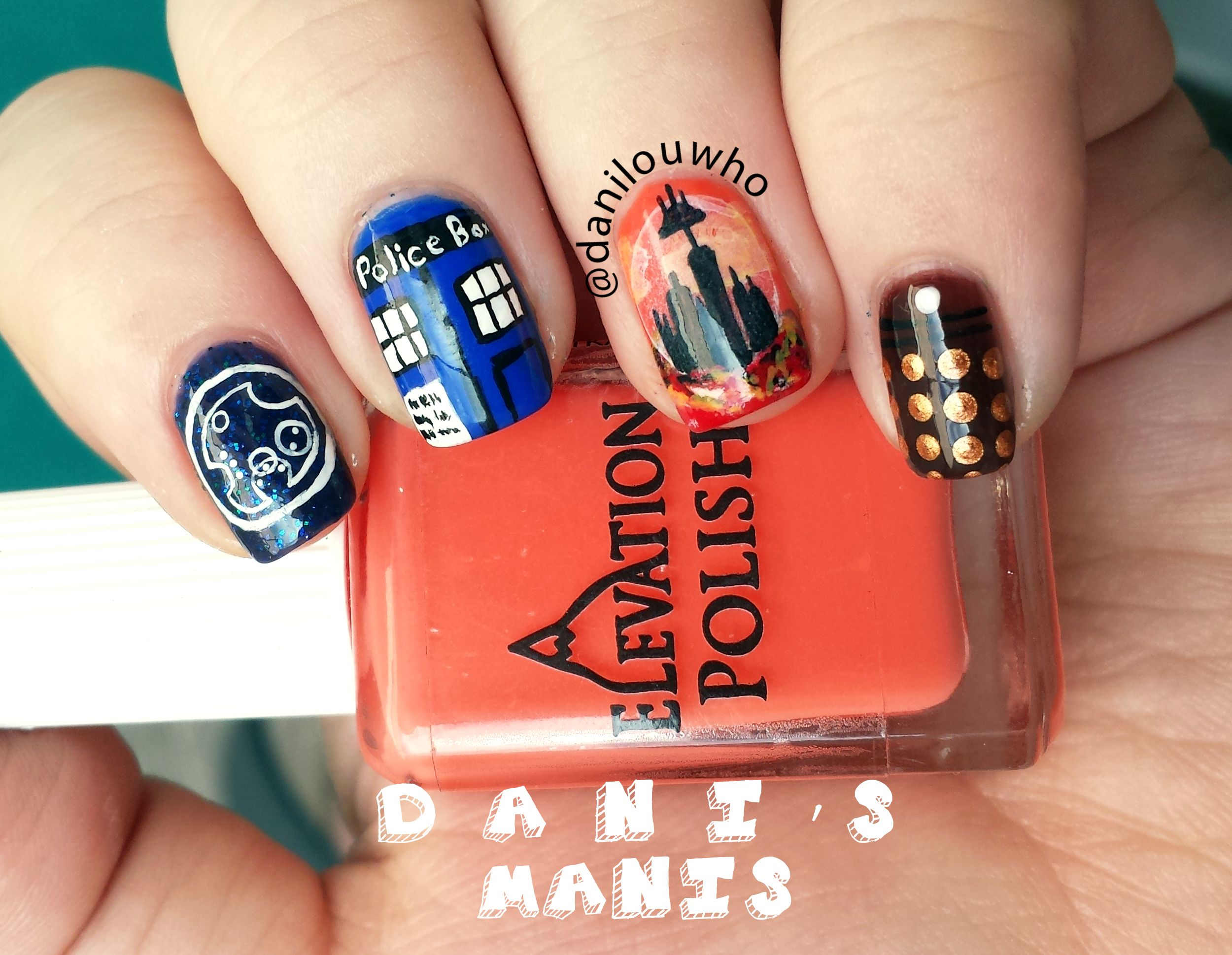 Doctor who nails i wouldnt have the patience but they are pretty posts about doctor who nail art written by danilouwho prinsesfo Gallery