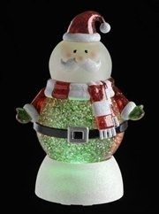 Led Lighted Color Changing Santa Claus Christmas Glitterdomes Christmas Snow Globes Shop Decoration Glitter Christmas