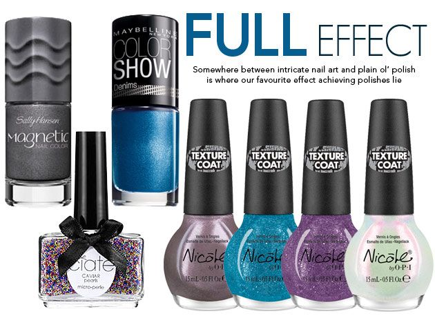 Add special effect nail polishes to your sartorial repertoire!