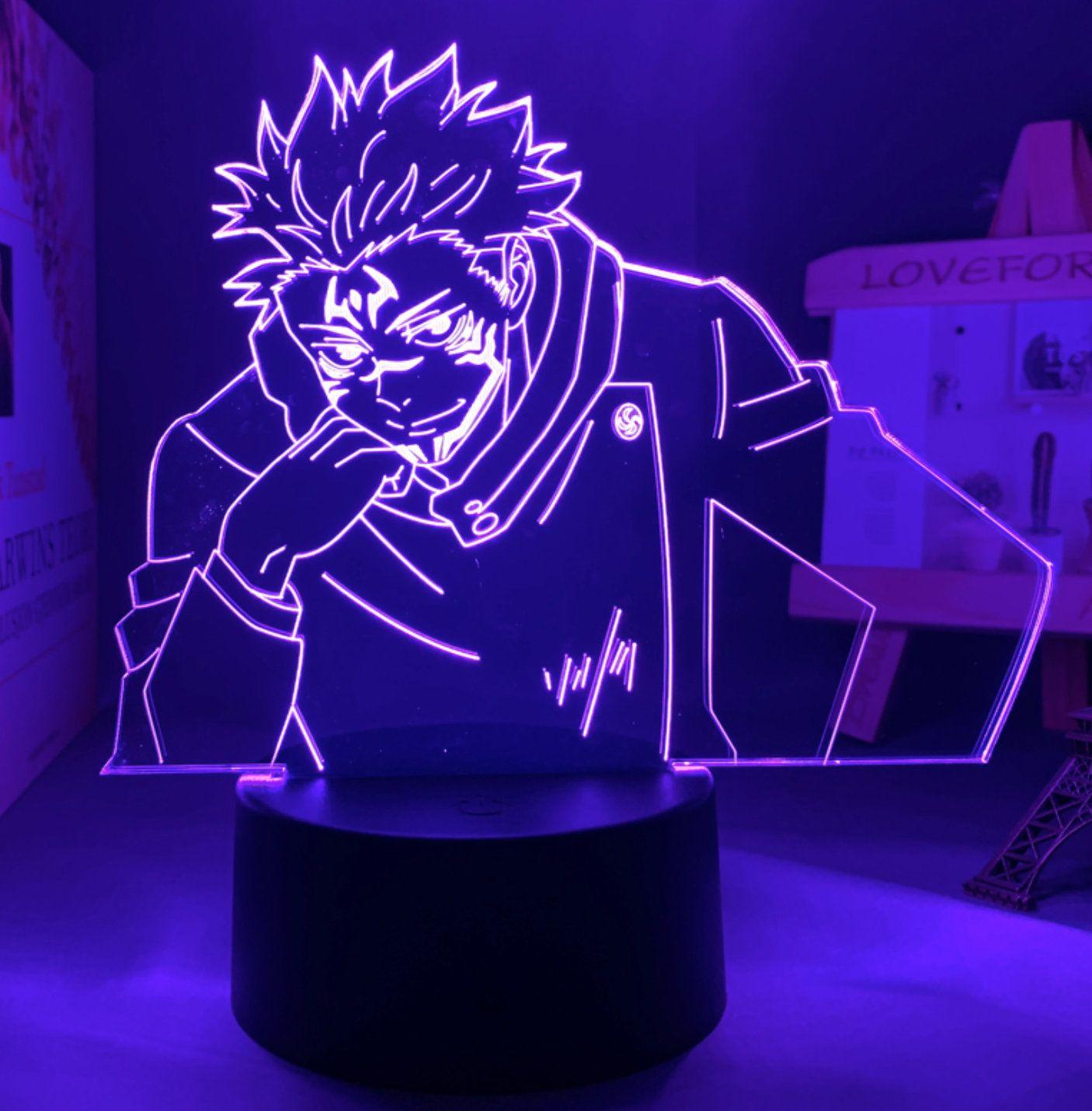 Yuji Itadori Sukuna Form From Anime Jujutsu Kaisen Led Lamp Etsy In 2021 Anime Decor Gifts Jujutsu