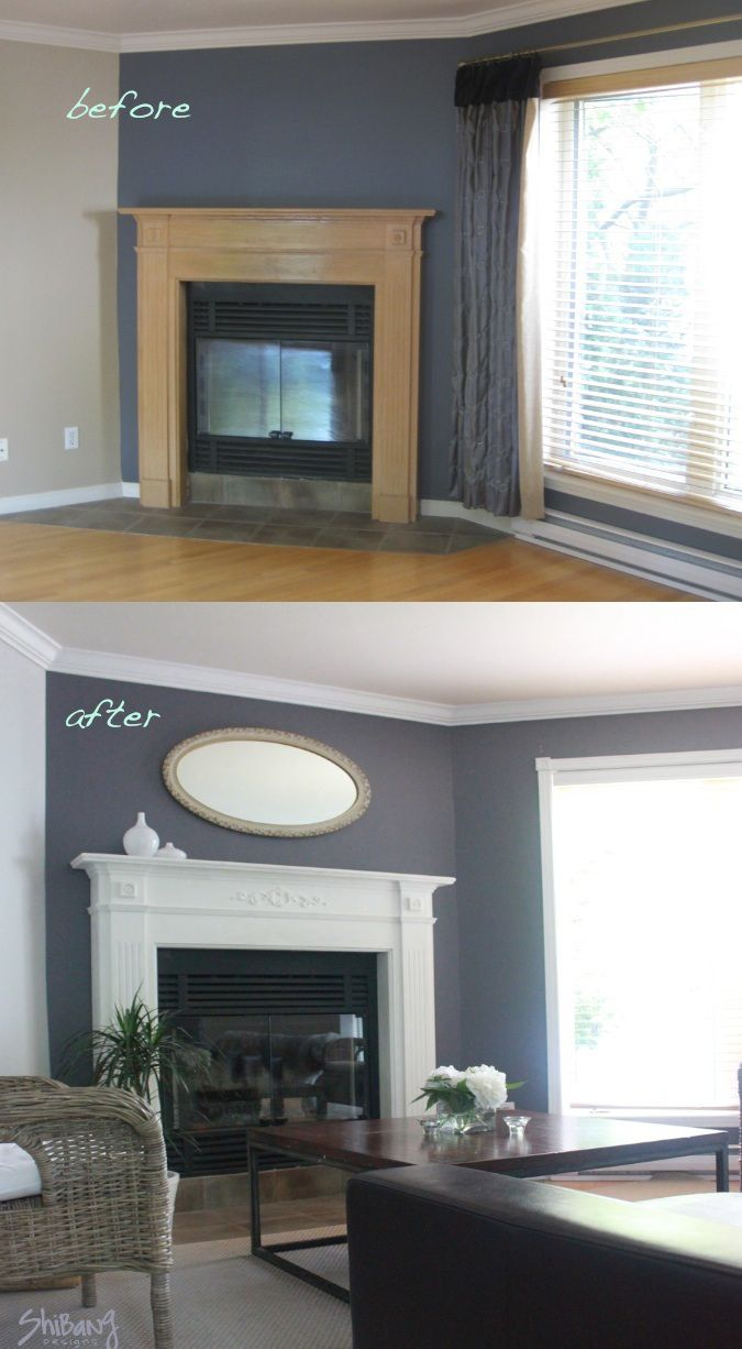 Refreshing Dated Oak Fireplace With Annie Sloan Chalk Paint DIY In 2019 Paint Furniture