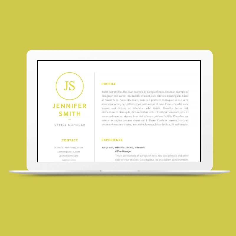 Resume template 120050 - Classic Resume Templates - CVSHOP #cvshop - classic resume templates