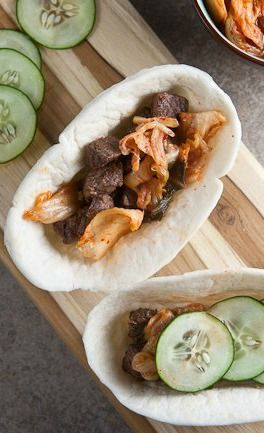Spicy korean tacos dora johnson pinterest korean food and asian spicy korean tacos with kimchi healthy forumfinder Choice Image