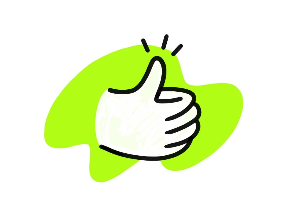 Thumb Up Thumbs Up Hand Logo Hand Illustration