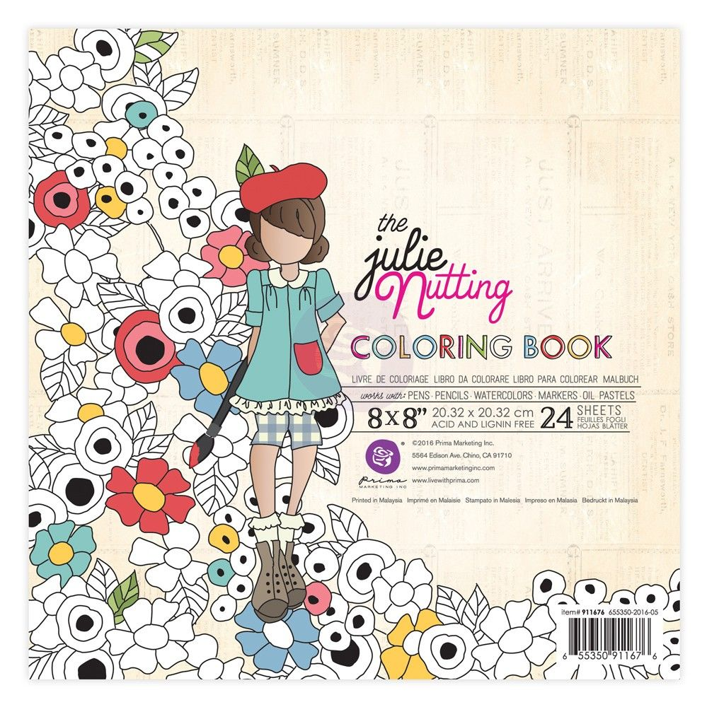 Watercolor paper coloring book - Julie Nutting Watercolor Paper Coloring Book