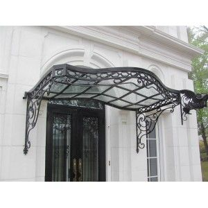 Incredible Victorian Style Hand Wrought Iron Canopy With Glass  sc 1 st  Pinterest & Incredible Victorian Style Hand Wrought Iron Canopy With Glass ...
