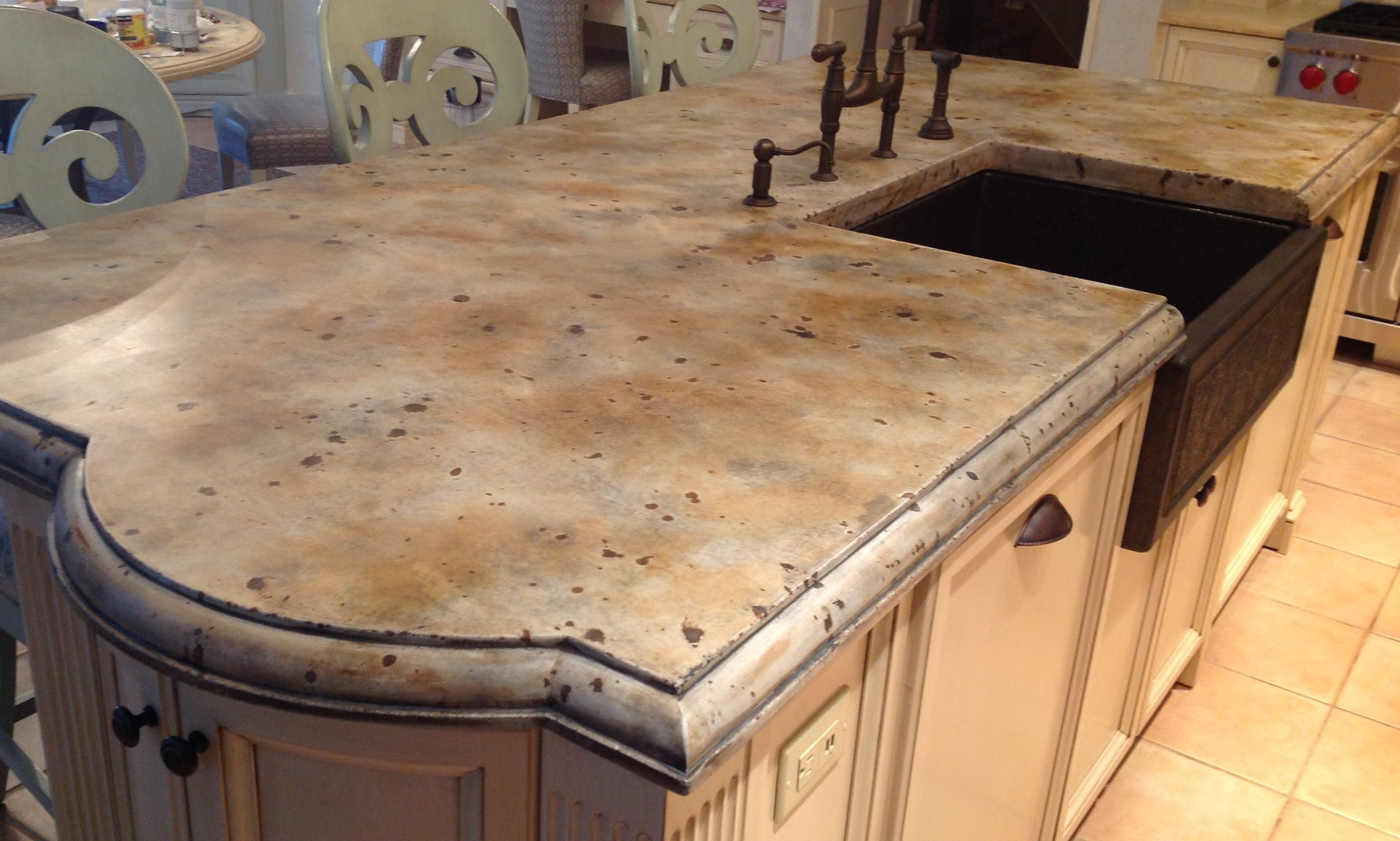 Concrete Countertop My Husband Made Diy Kitchen Remodel Kitchen