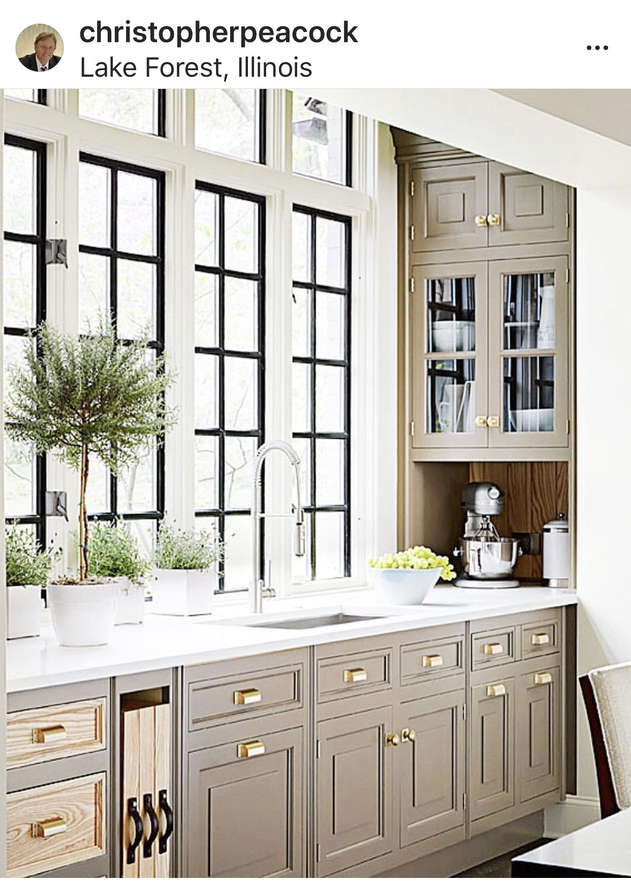 Taupe Greige Cabinets Marble Copper White Cottage Kitchens Farmhouse Style Kitchen Modern Farmhouse Kitchens