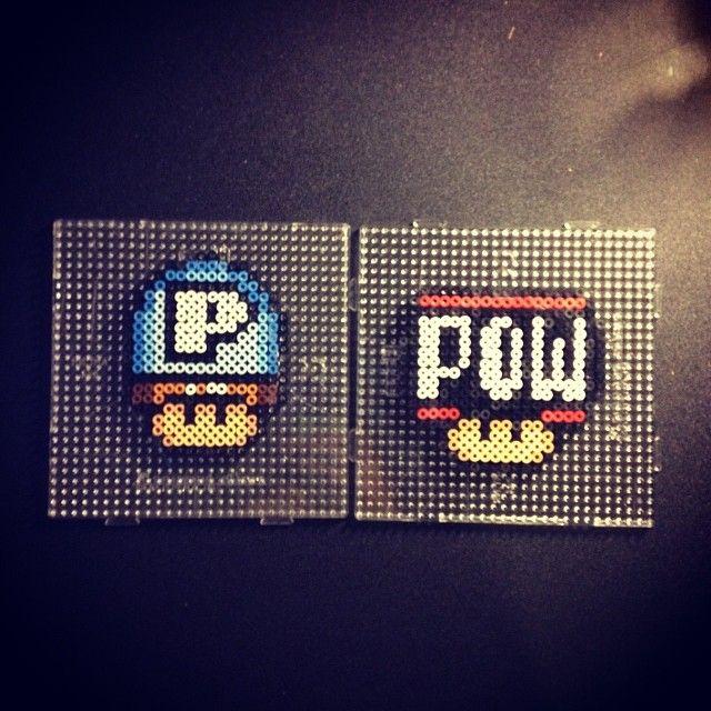 Power Button Mushroom Perler Beads With Images Perler Bead