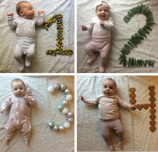 17 Cute And Easy Photo Ideas For Your Baby S First Year Document Your Baby S Monthly Milestones Awesome Alice Baby Birthday Photo Monthly Baby Photos Monthly Baby Pictures