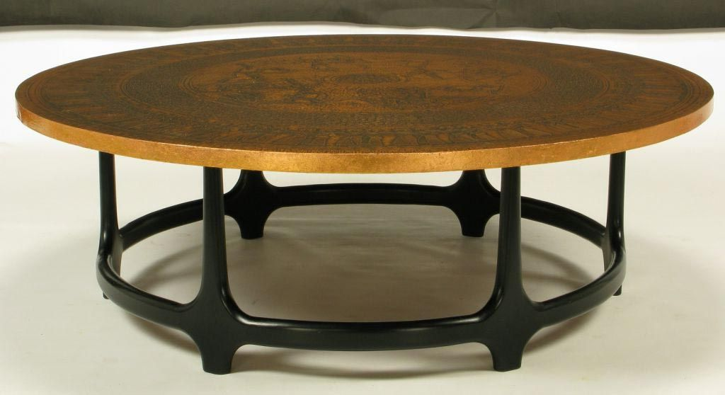 round copper coffee table | coffee tables | pinterest | copper