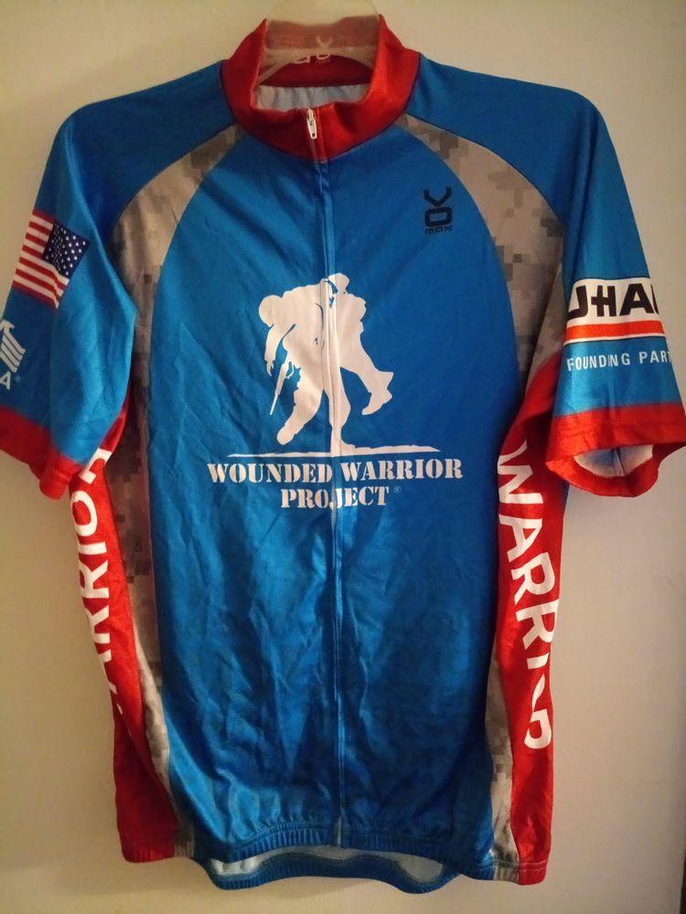 Mens Bike Cycling Jersey Veteran Wounded Warrior Soldier USAA UHAUL VOmax  Large  VOmax  ShirtsTops de3e2563e