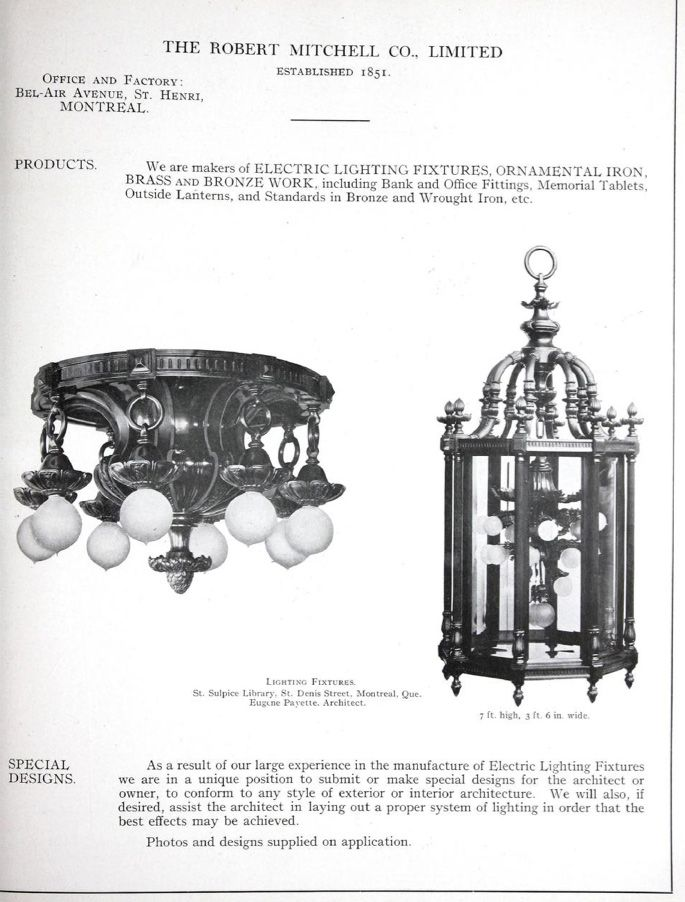Canadian catalogue of building suppiles and suppliers manufacturers canadian catalogue of building suppiles and suppliers commercial lighting by robert mitchell company of montreal aloadofball Images