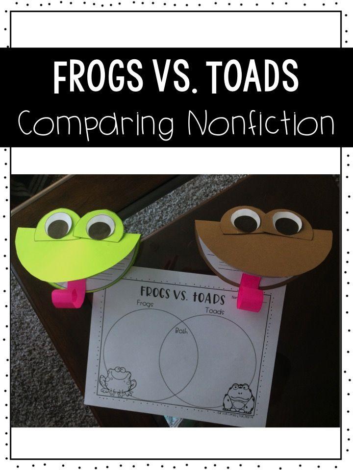 Frog Vs Toads Comparing Nonfiction Reading Passages Venn