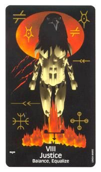 Justice in the Crow's Magick deck is your Tarot card of the day