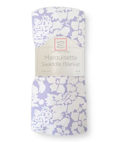 Another great find on #zulily! 46'' x 46'' Lavender Lush Flower Marquisette Swaddling Blanket #zulilyfinds