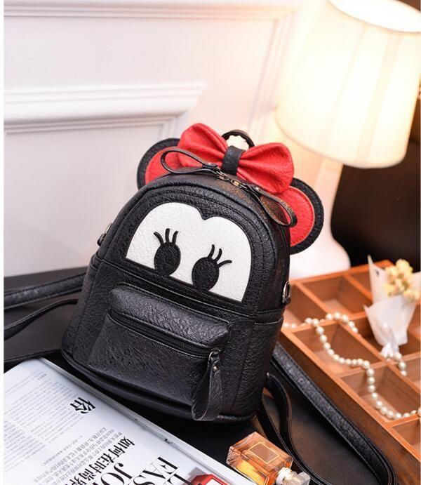 51fddc2864 Black Baby Girls Backpack Cartoon Butterfly Knot Backpack Princess Mini Bag  - Backpacks   Bookbags