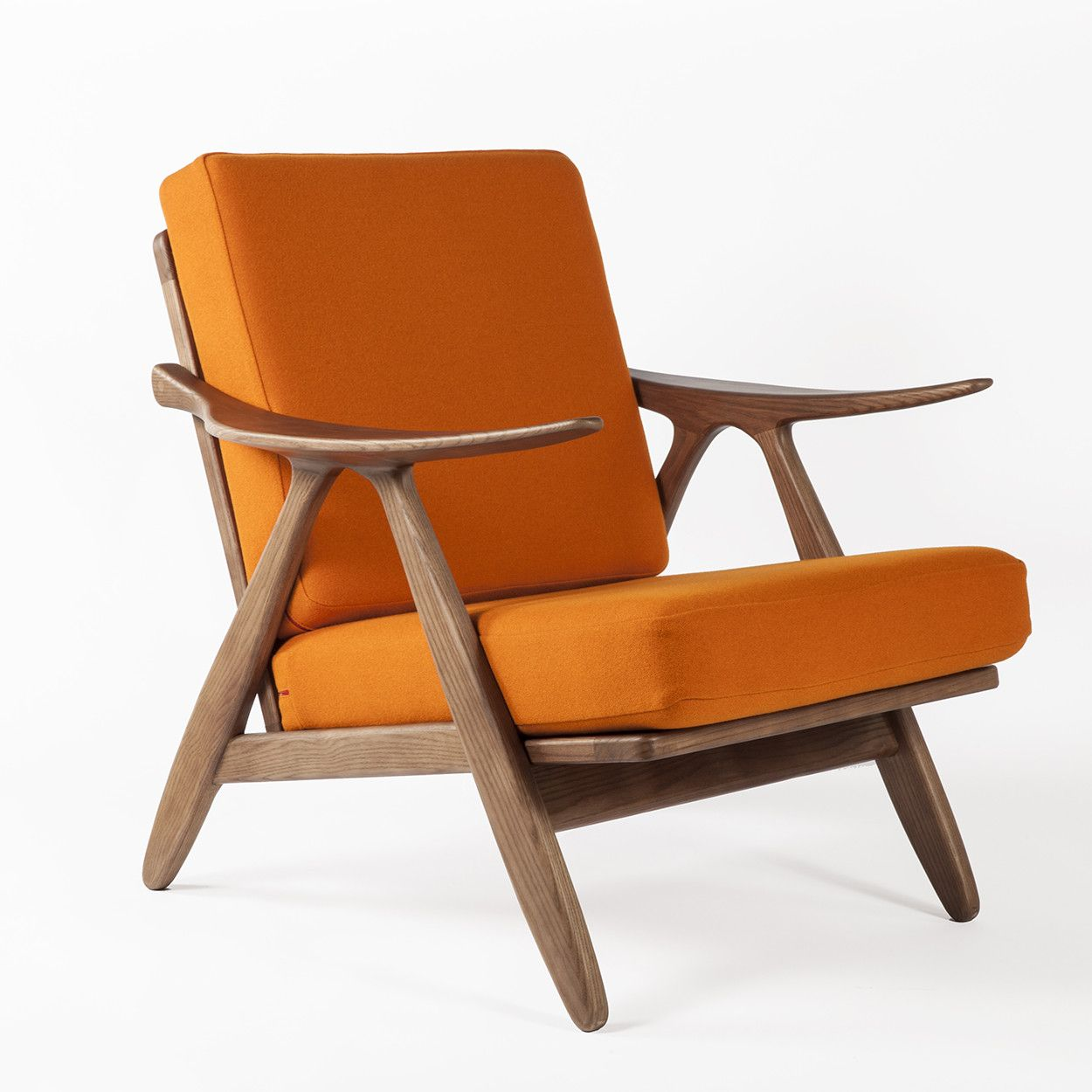 Mid Century Modern Karla Lounge Chair Orange Mid Century Lounge Chairs Lounge Chair Danish Lounge Chair