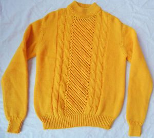 Vtg Virgin Wool Cable Knit Mock Turtleneck Sweater Mens S Small Gold Yellow Turtleneck Sweater Mens Men Sweater Sweaters