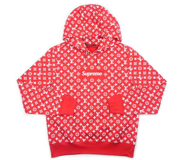 louis vuitton and supreme hoodie. \ louis vuitton and supreme hoodie