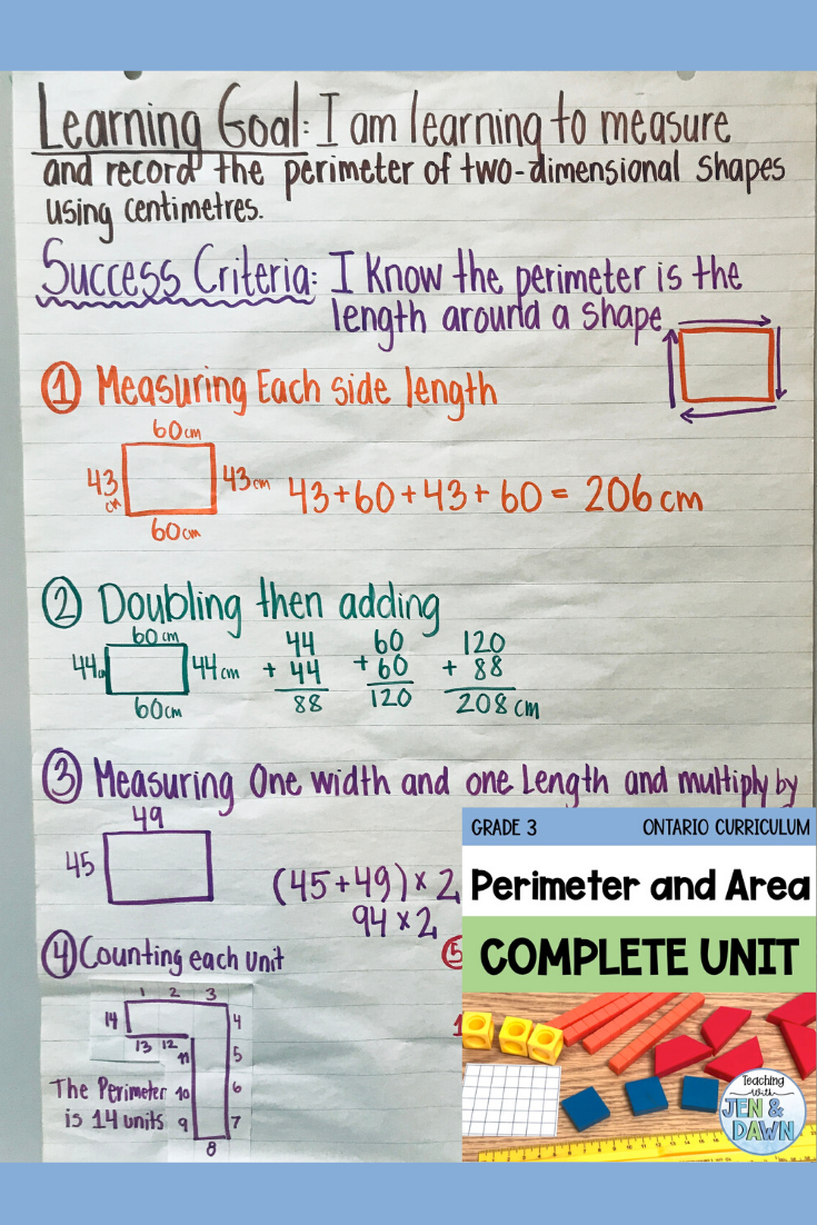 Grade 3 Perimeter And Area Addition And Subtraction Practice Math Lessons Conceptual Understanding