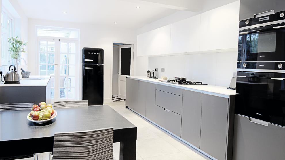 Vivienda equipada con el modelo de cocina minos gris antracita de ...