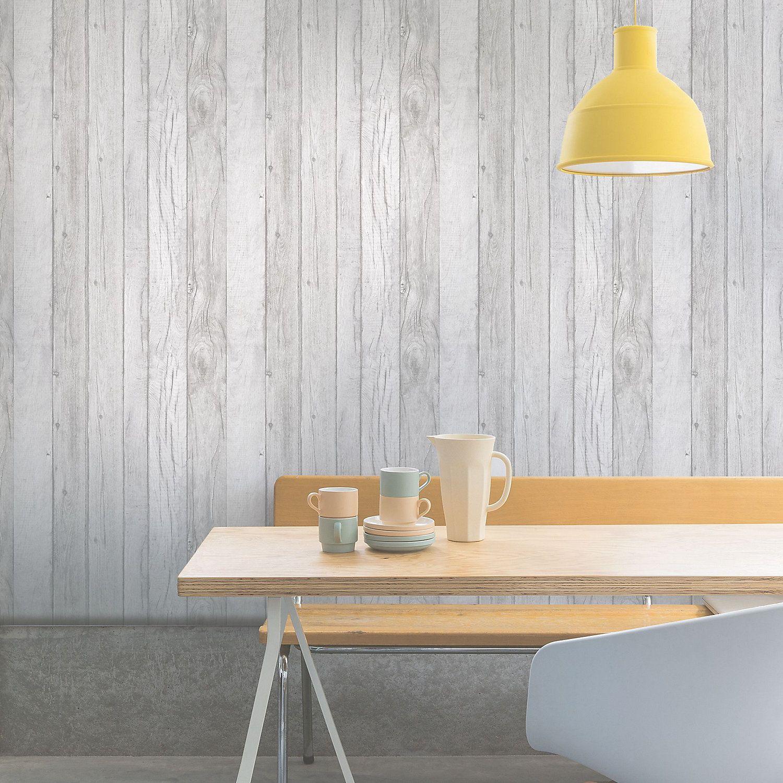 Ideco Home Grey Wood panel Wallpaper Wood paneling, Wood