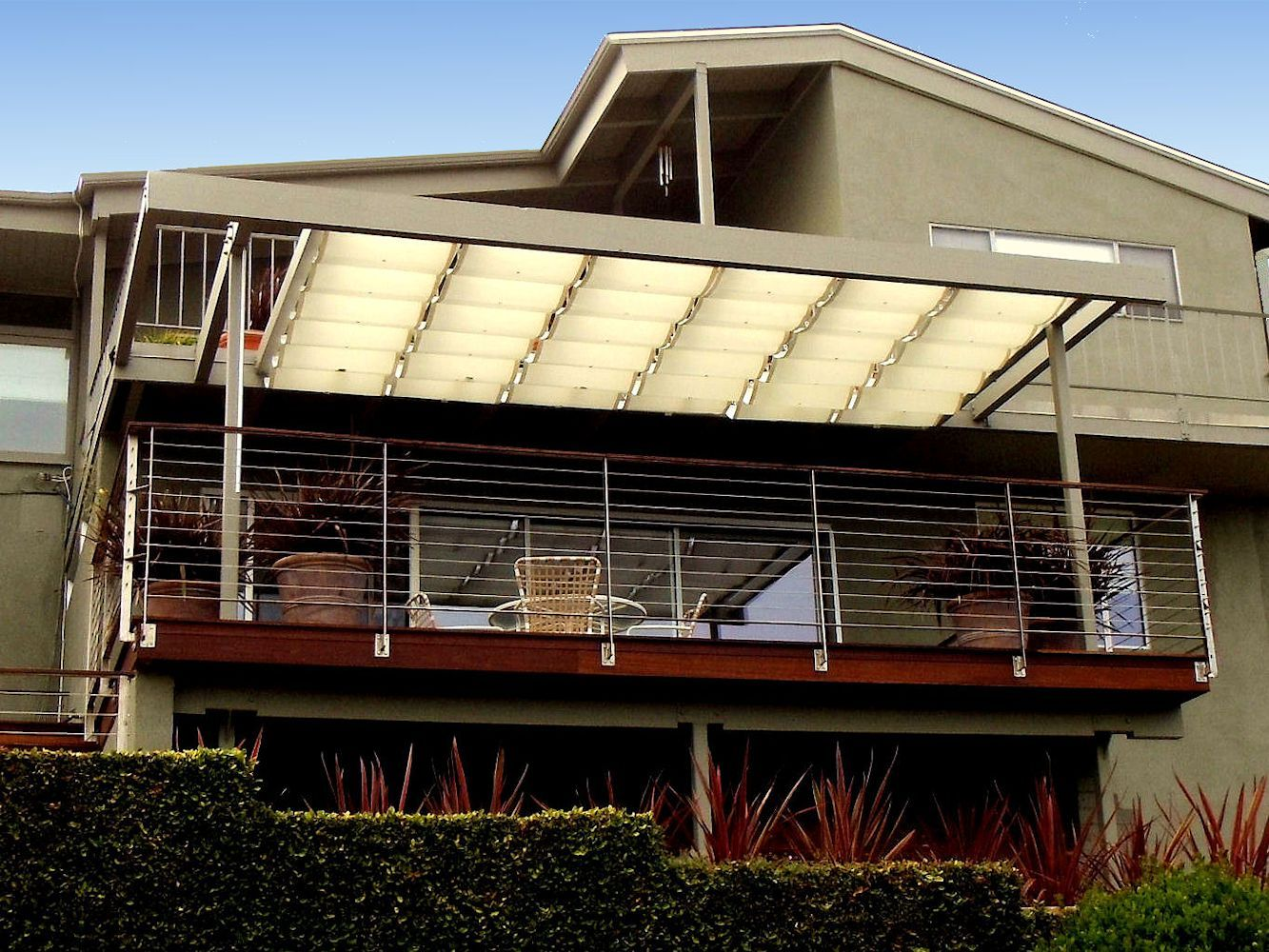 Slide Wire Cable Awnings By Superior Awning Let The Sun Shine Pergola Shade Diy Slide Wire Cable Awnings Outdoor Shade