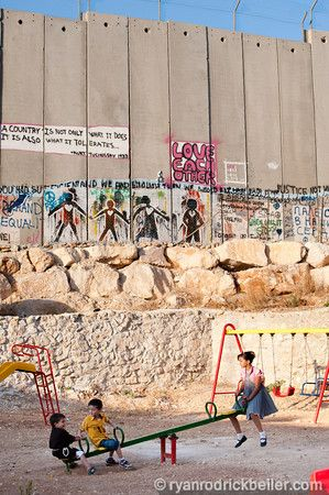 Bethlehem Occupied Palestinian Territories September 19 In A Playground Next To The Israeli Separation Wall Di Israel Travel Visit Egypt Travel Photography