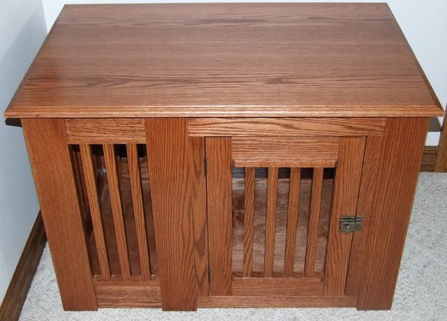 Amish Mission Style Side Entry Wooden Dog Crate Table Georgeous Solid Wood Dog Crate Furniture