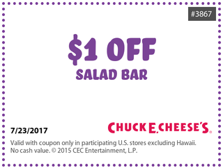 chuck e cheese coupons for salads