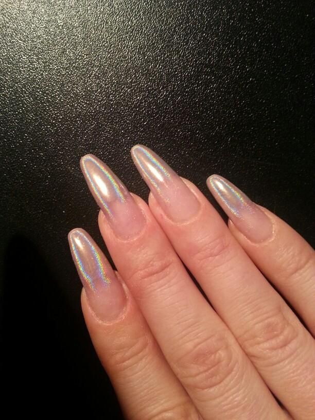 Laser Nail Glitters Acrylic Nail Coffin Nail Design For Fall Summer ...