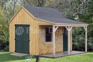 12 X 12 Cottage Cabin Shed Plans Blueprints 81212 753182758411 Ebay Shed With Porch Shed Blueprints Rustic Shed