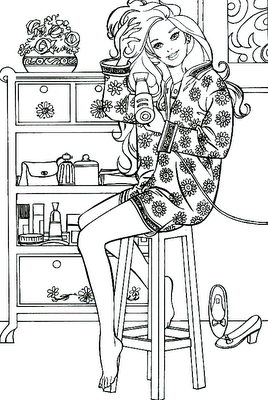 Fashionista Barbie Barbie Coloring Pages Barbie Coloring Coloring Pages