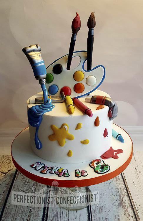 Myka - Artist birthday cake | Cup Cakes&Cakes | Tortas de galleta ...
