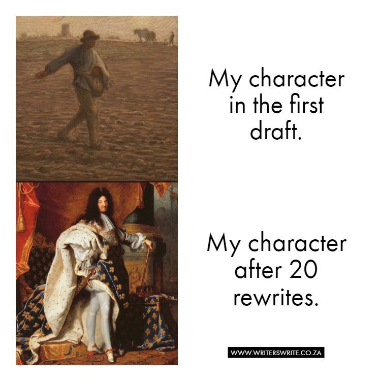 Photo of Characters: First Draft vs Final Draft | Writers Write