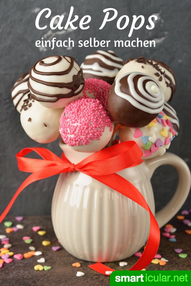 Selbstgemachte Cake Pops statt langweiligem Blumenstrauß