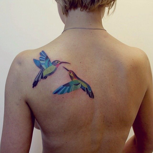 Watercolor style tattoos by Sasha Unisex