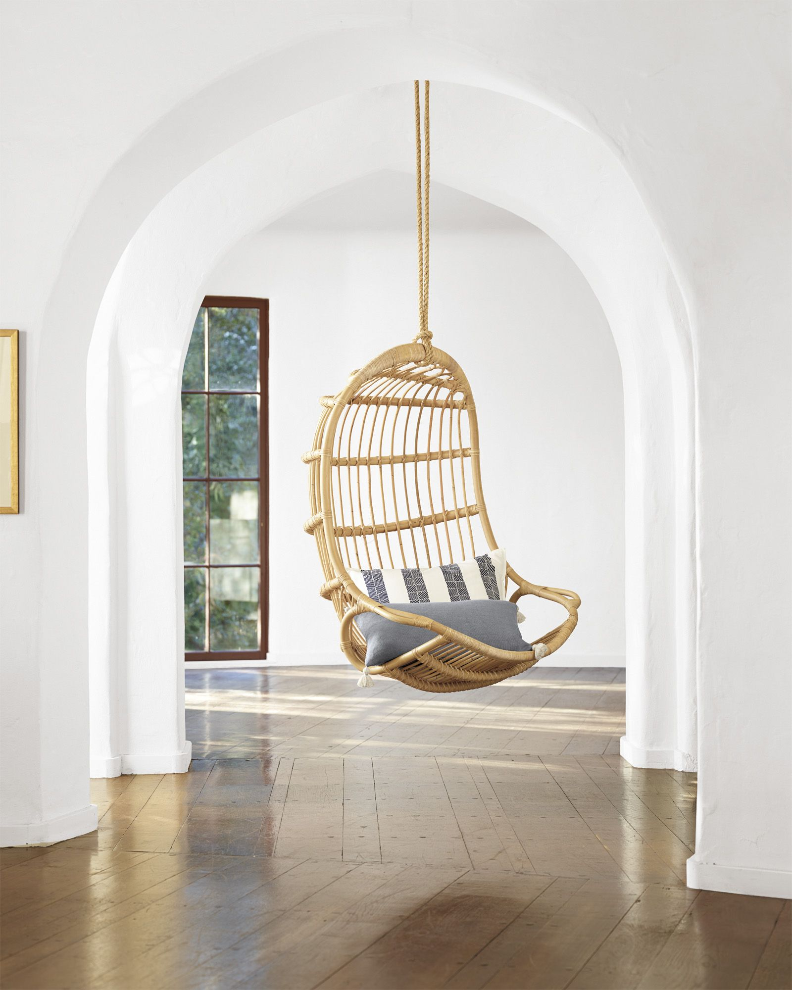 Hanging Rattan ChairHanging Rattan Chair   For Guest Shed