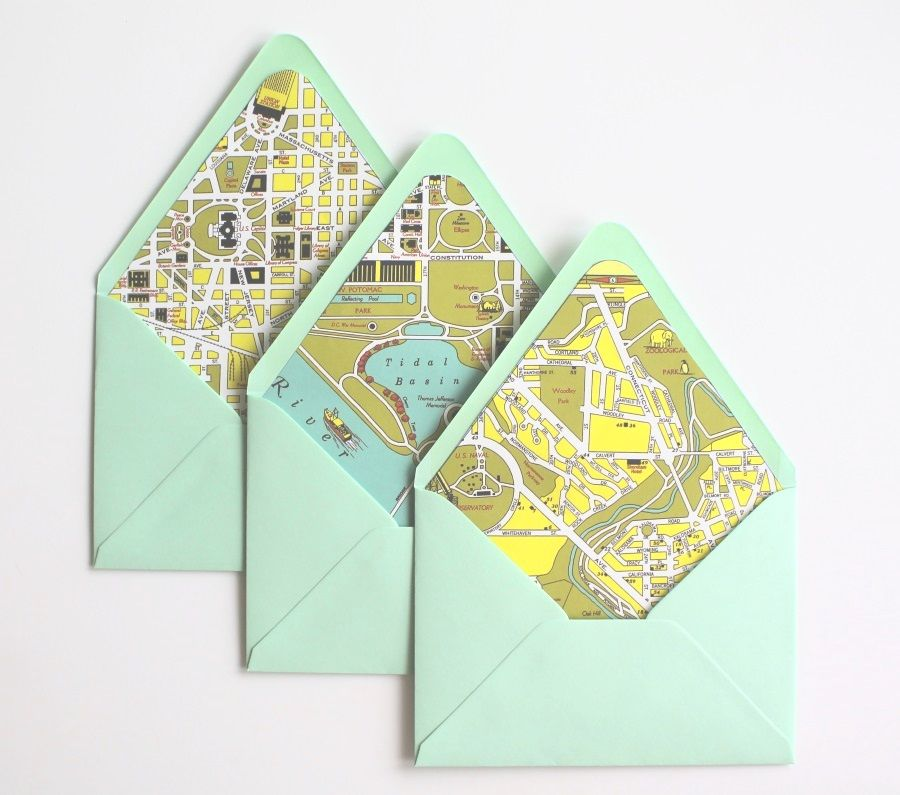 City Map Envelope Liners