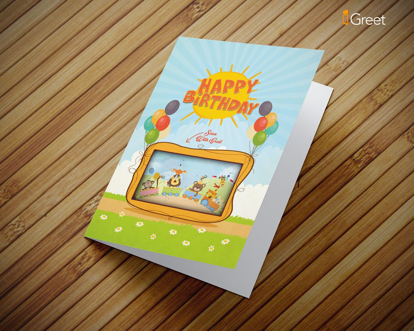 Birthday greeting card for kids cute zoo animals party birthday greeting card for kids cute zoo animals m4hsunfo