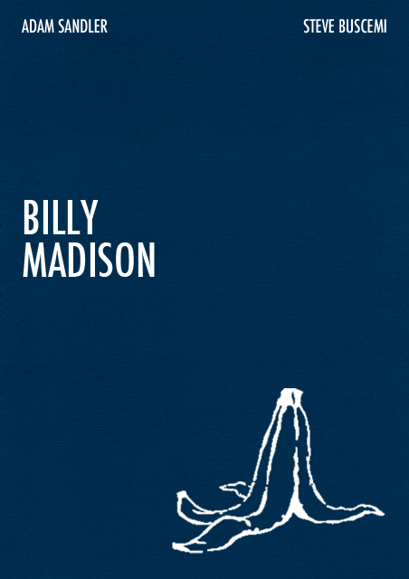 billy madison 1995 minimal movie poster by tania