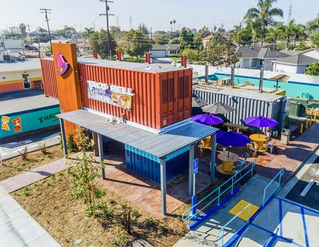 Now Open This Shipping Container Taco Bell Is The World 39 S First Outdoor Furniture Sets Outdoor Seating Areas Container Shop
